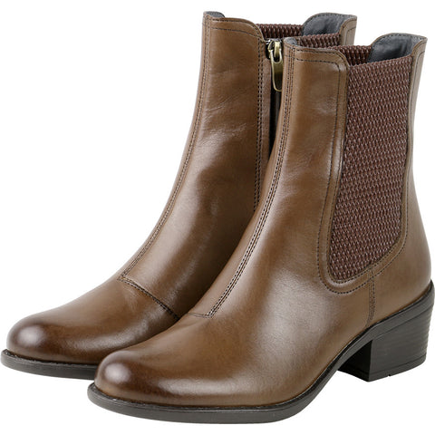 Antwerpen Mid-High Elastic Boots (Luggage)
