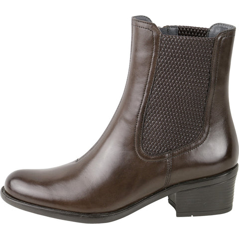 Antwerpen Mid-High Elastic Boots (Brown)