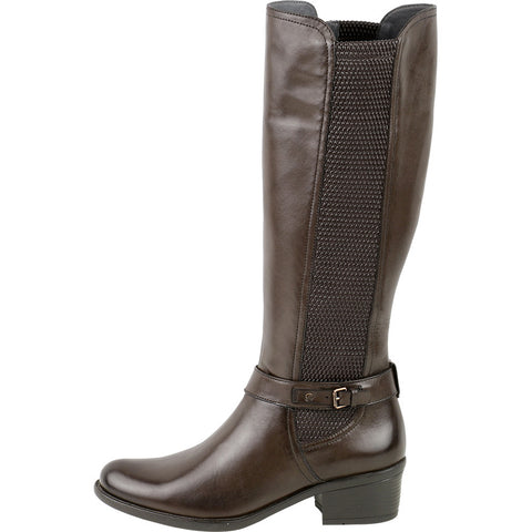 Antwerpen Knee-High Elastic Boots (Brown)