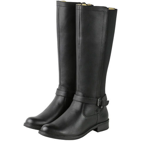 Sevilla Elastic Knee-High Boots (Black)