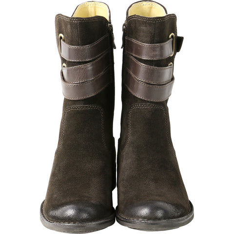 Sevilla Mid High Boots with Straps (Ebony)