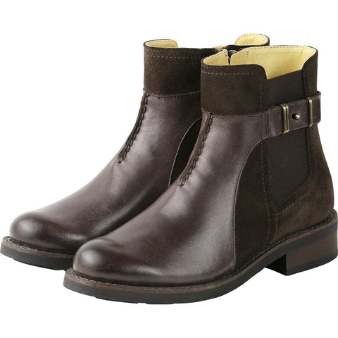 Prague Elastic Ankle Boots (Coffee)