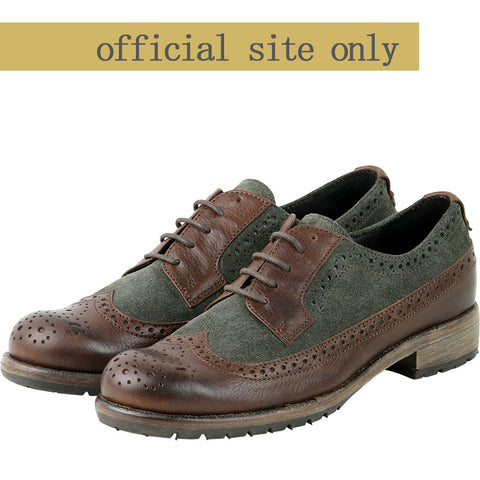 Roma Wingtip Brogue shoes (Brown/Ivy)