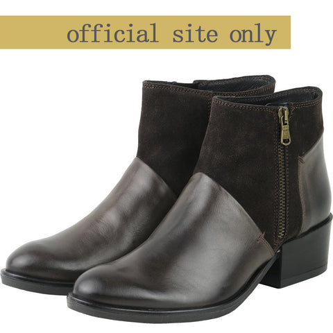 Firenze Zip Ankle Booties (Ebony)