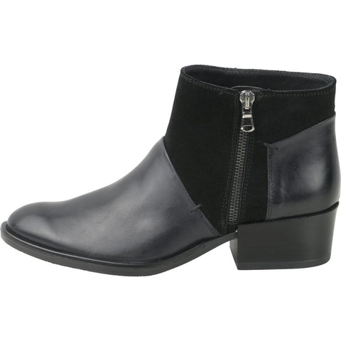 Firenze Zip Ankle Booties (Black)