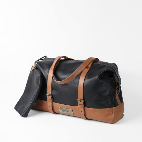Amber Travel Bag (Black/Toffee)