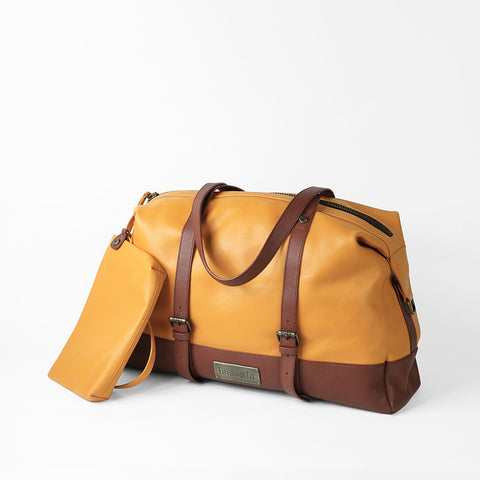 Amber Travel Bag (Golden Yellow/Hazelnut)