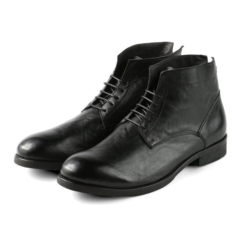 Arezzo Lace-Up Boots (Black)