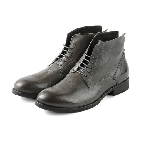 Arezzo Lace-Up Boots (Coal)