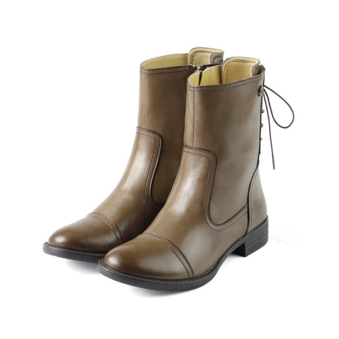 Trapani Back Lace-Up Boots (Fossil)