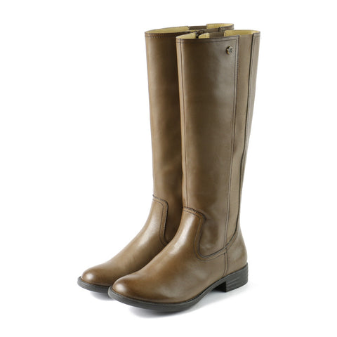Trapani Elastic Knee-High Boots (Fossil)