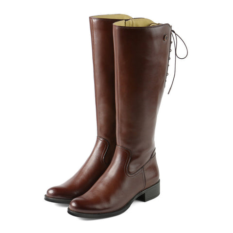 Siena Back Lace-Up Boots (Russet)