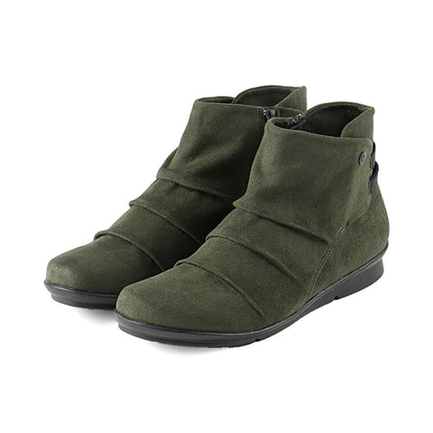 Coimbra Elastic Booties (Olive)