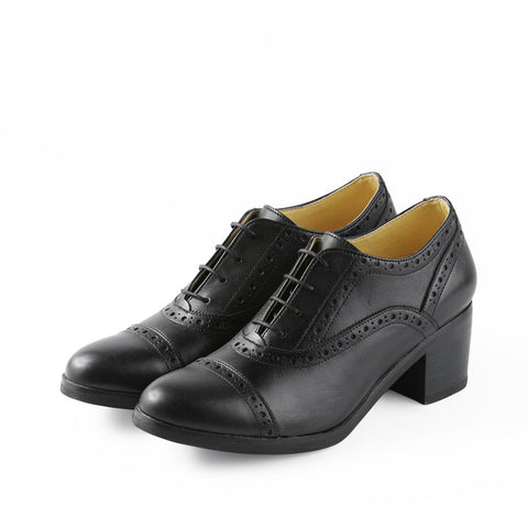 York High Heel Oxford (Black)
