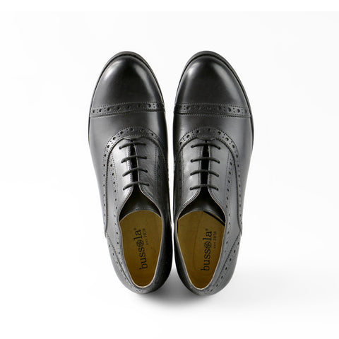 York High Heel Oxford (Charcoal)