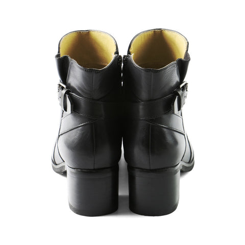 York Buckle Ankle Boots (Charcoal)