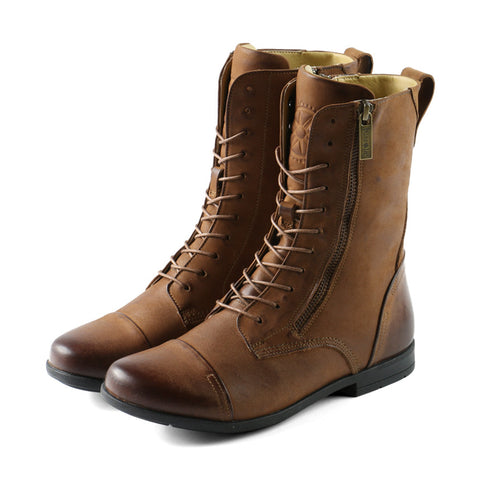 Madeira Military Lace-Up Boots (Congac)