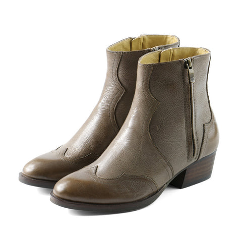 Alameda Western Double Zip Boots (Fossil)