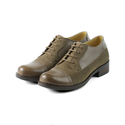 Norfolk Cap Toe Derby Shoes (Fossil)