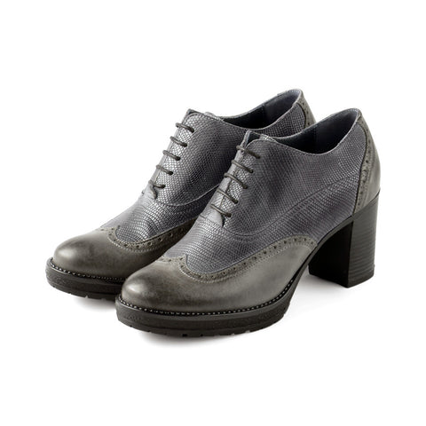 Verona High Heel Oxford (Coal)