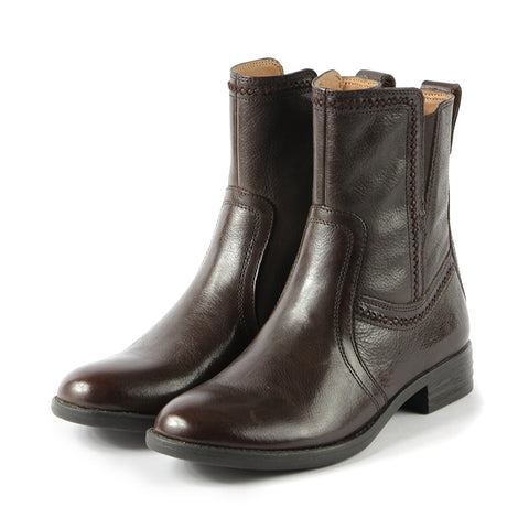 Trapani Fur Mid-High Boots (Brown)