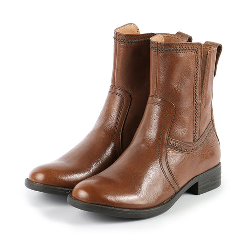 Trapani Fur Mid-High Boots (Cognac)