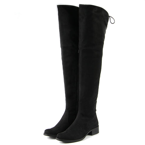 Siena Flexible Over-The-Knee Boots (Black)