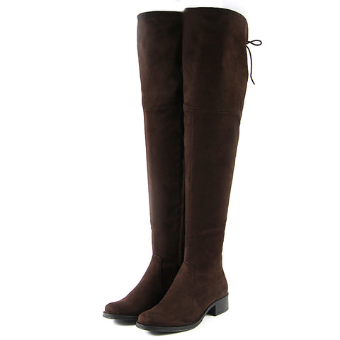 Siena Flexible Over-The-Knee Boots (Brown)