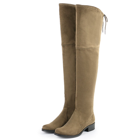 Siena Flexible Over-The-Knee Boots (Fossil)