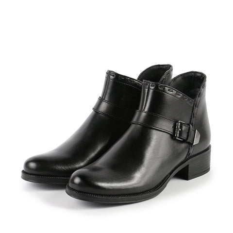 Siena Straps Booties (Black)