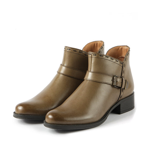 Siena Straps Booties (Fossil)