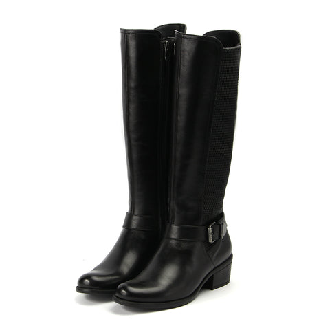 Antwerpen Knee-High Elastic Boots (Black)
