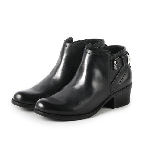 Final:Antwerpen Fur Straps Ankle Boots (Black)