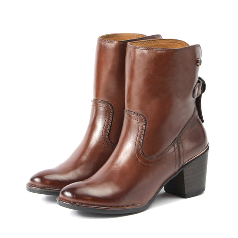 Woodville Ankle Boots with Back Knot (Russet)