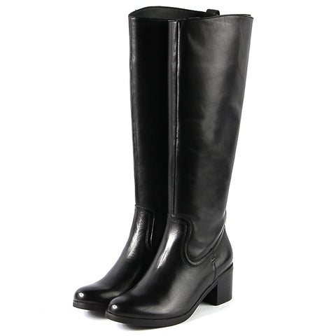 York Knee-High Boots (Black)