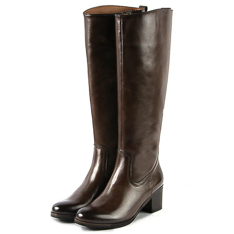 York Knee-High Boots (Brown)
