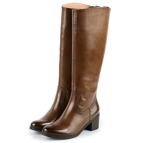 York Knee-High Boots (Luggage)