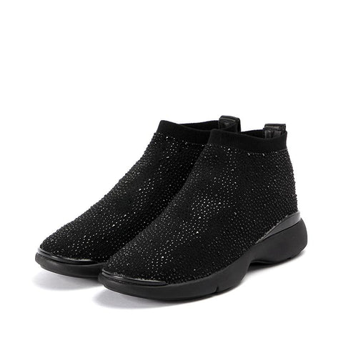Nagoya Crystal Sock Sneakers (Black Edition)