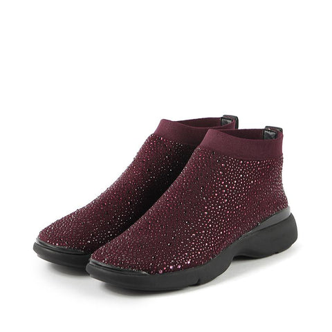 Nagoya Crystal Sock Sneakers (Wine)