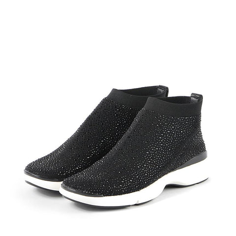Nagoya Crystal Sock Sneakers (Black)