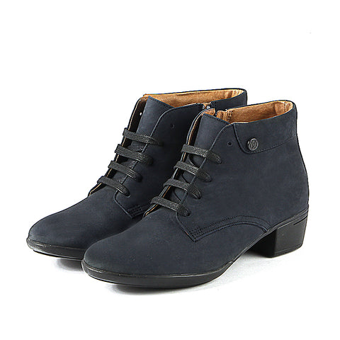 Pavia Lace-Up Ankle Boots (Indigo)
