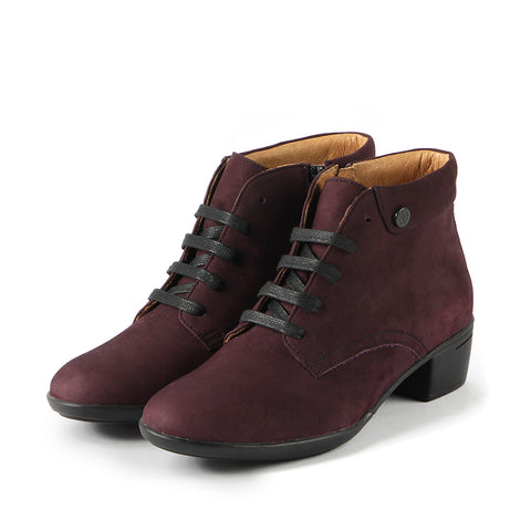 Pavia Lace-Up Ankle Boots (Wine)