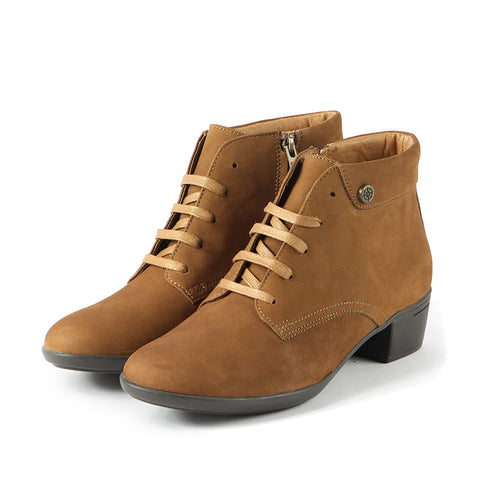 Pavia Lace-Up Ankle Boots (Cognac)