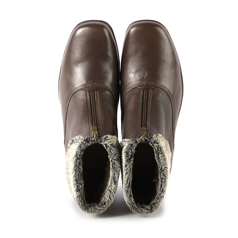 Rimini Fur Collar Booties (Taupe)