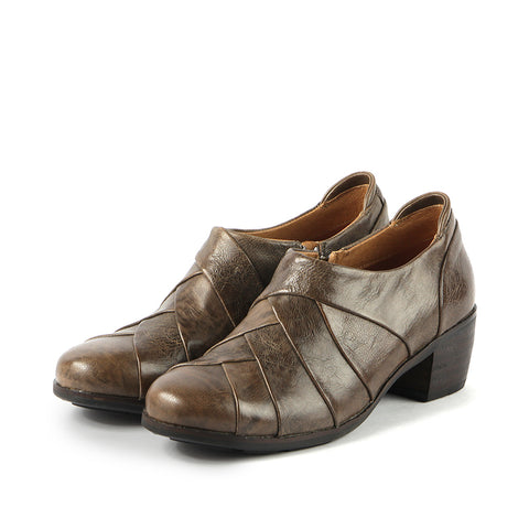 Olbia Patchwork Shooties (Taupe)