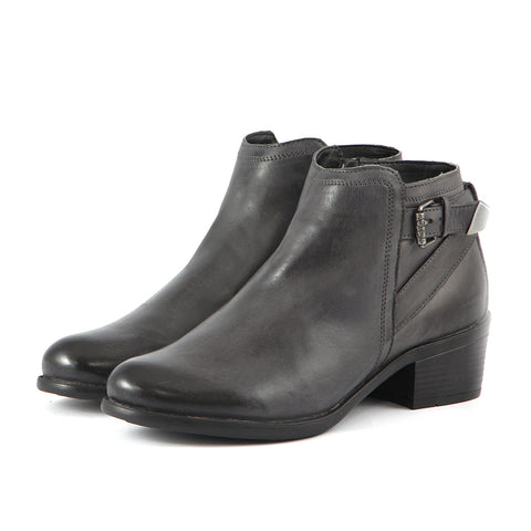 Final:Antwerpen Fur Straps Ankle Boots (Charcoal)