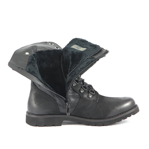 Kalahari Fur Military Boots (Black)