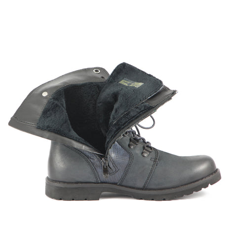 Kalahari Fur Military Boots (Navy)
