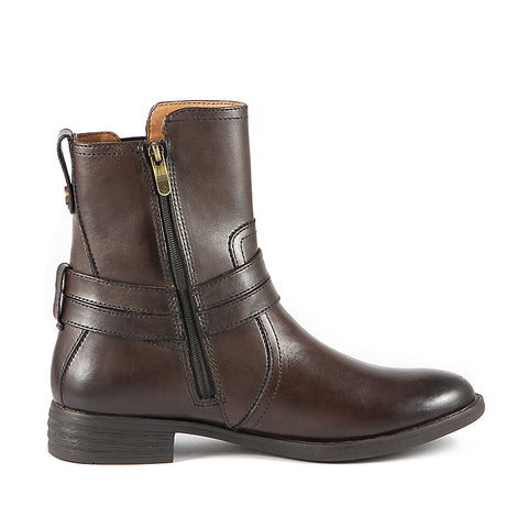 Trapani Straps Ankle Boots (Brown)