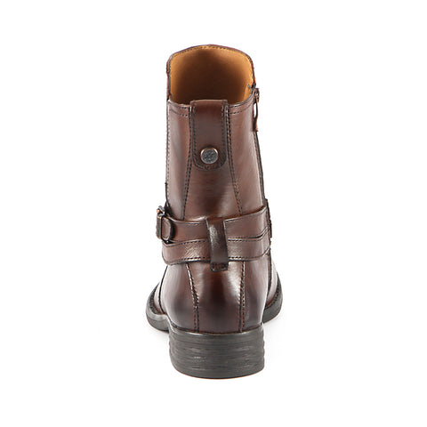 Trapani Straps Ankle Boots (Russet)